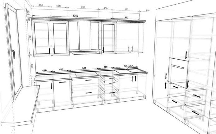 Как выбрать размеры кухонного гарнитура?