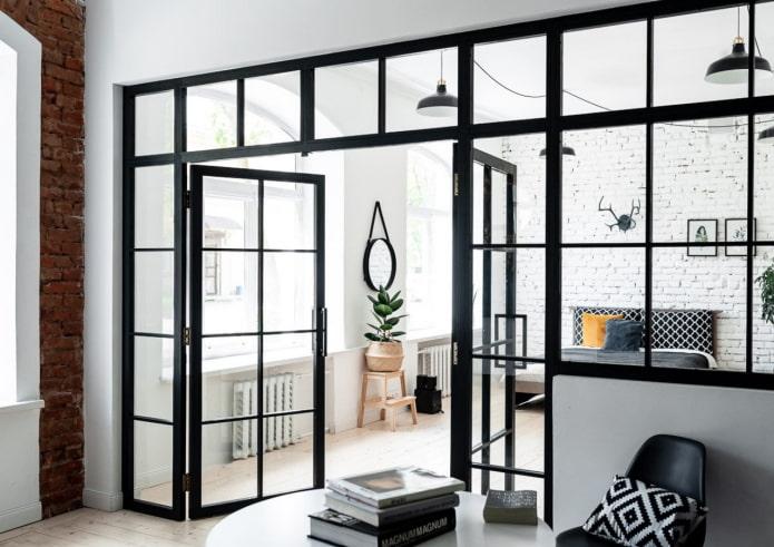 Дизайн интерьера со стеклянными перегородками