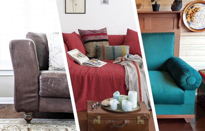 Как обновить старый диван?