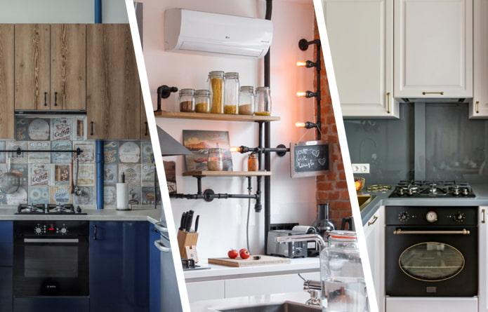 Как спрятать газовую трубу на кухне?