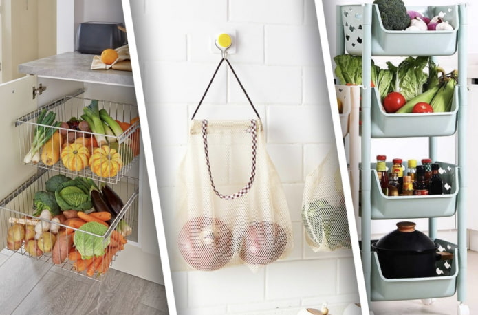 Как организовать хранение овощей на маленькой кухне?