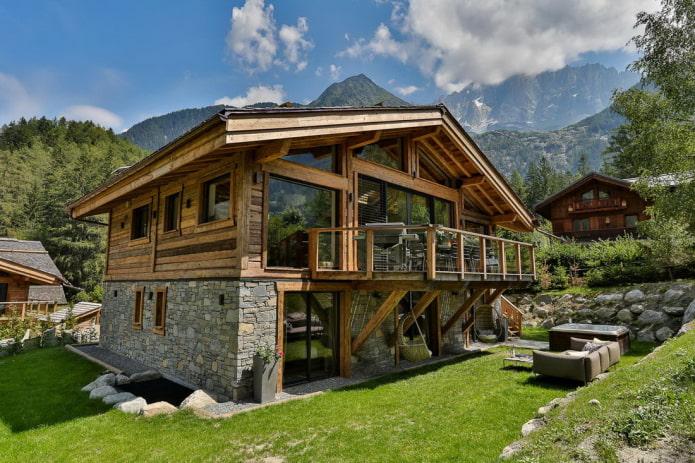 Как оформить дом в стиле шале?