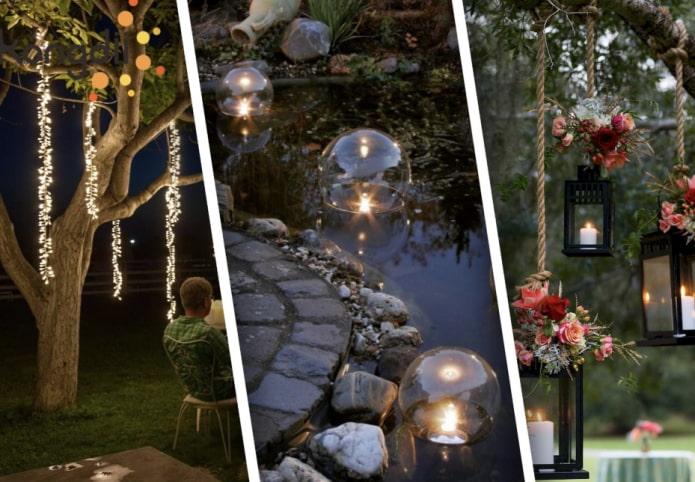 Как украсить сад в вечернее время?