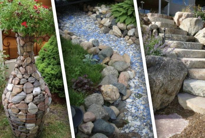Что можно сделать из камней на даче?