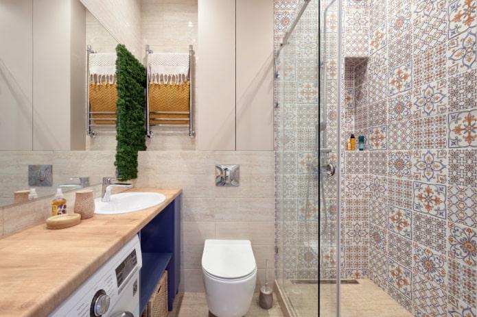 Как обустроить маленькую ванную комнату без ванны?