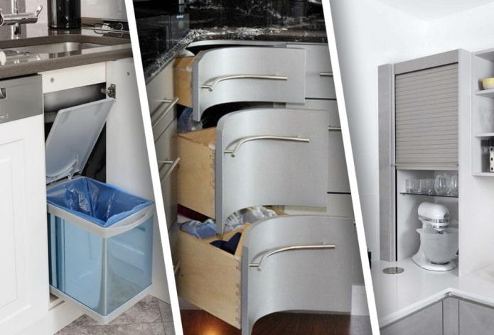 Как использовать угол в кухонном гарнитуре?