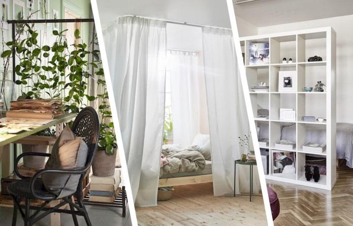 Как сделать зонирование комнаты с помощью товаров из ИКЕА?