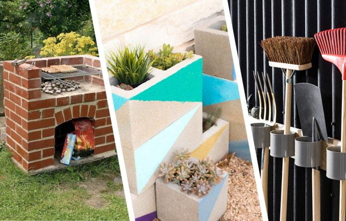 Что сделать из остатков строительных материалов на даче?