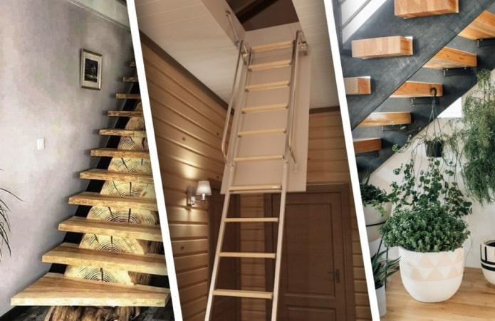 Красивые примеры дачных лестниц