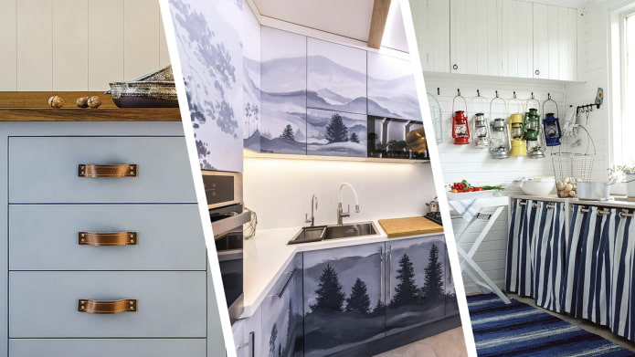 Как самостоятельно обновить кухонный гарнитур?
