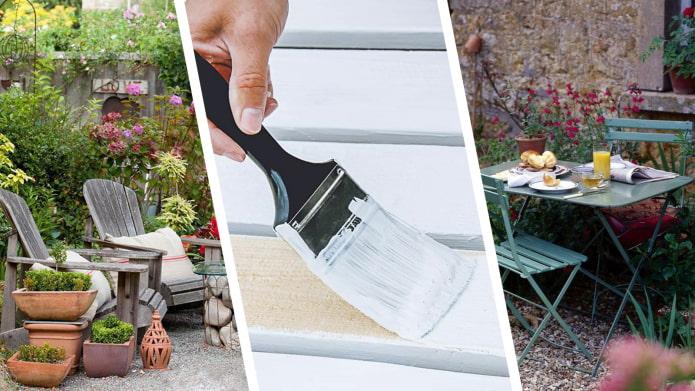 Как правильно обновить садовую мебель?