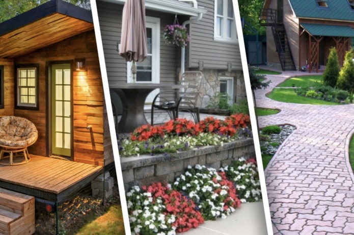 Как обустроить двор частного дома?
