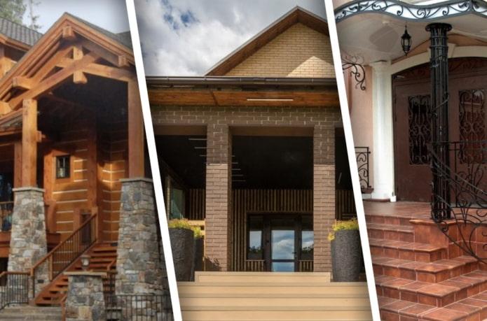 Как красиво оформить наружные столбы и колонны?