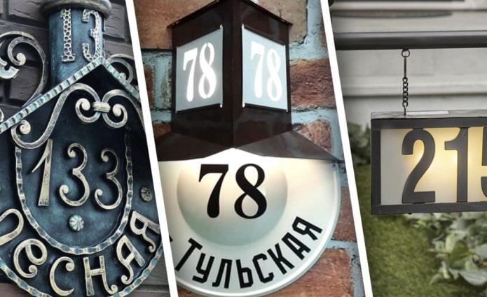 Красивые адресные таблички для дома