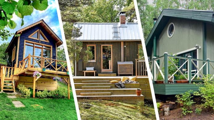 Красивые маленькие дома с уютными террасами