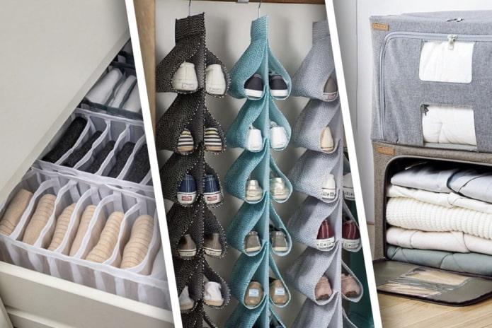 Органайзеры для хранения вещей в шкафу