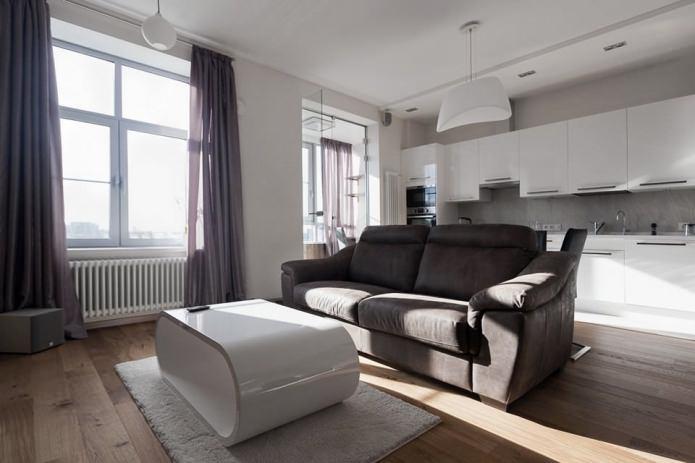 Минималистический дизайн квартиры 64 кв. м.