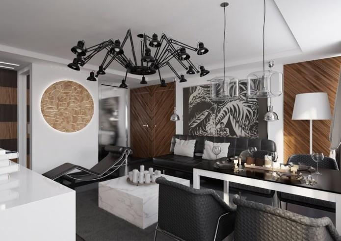 Планировка и дизайн квартиры 54 кв. м.