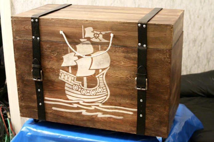 Пиратский деревянный сундук своими руками
