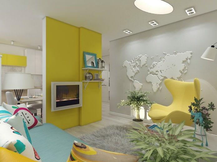 Дизайн 3-х комнатной квартиры 80 кв. метров