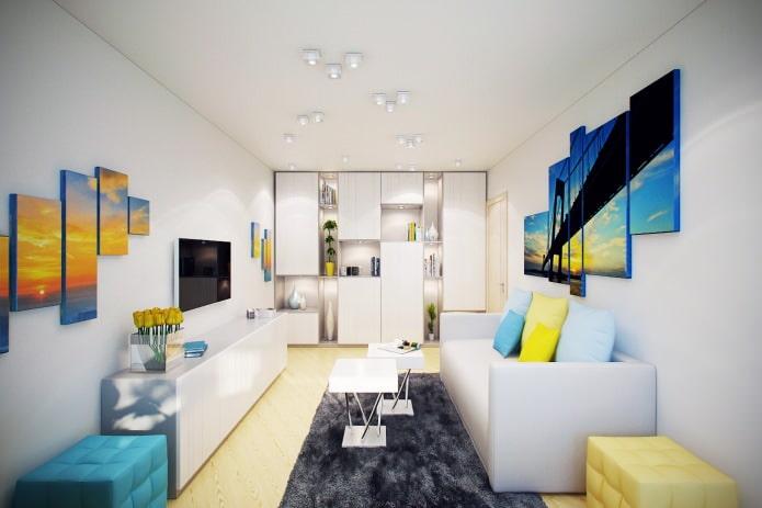 Интерьер 2-х комнатной квартиры 46 кв. м.