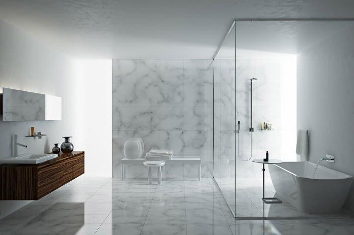 Стиль минимализм в ванной комнате: особенности, фото