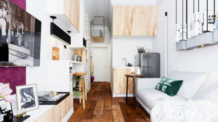 Компактный интерьер квартиры 15 кв. м.
