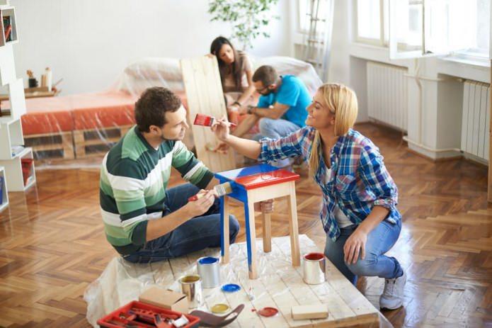Ремонт на практике: как перекрасить мебель самостоятельно