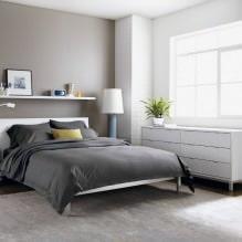 Дизайн спальни в серых тонах: особенности, фото-2