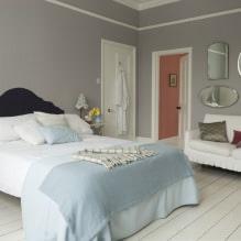 Дизайн спальни в серых тонах: особенности, фото-8