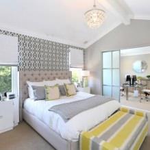 Дизайн спальни в серых тонах: особенности, фото-7