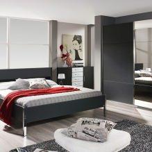 Дизайн спальни в серых тонах: особенности, фото-3