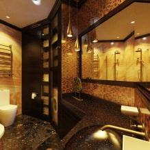 Дизайн интерьера ванной в золотом цвете -8