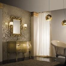 Дизайн интерьера ванной в золотом цвете -4