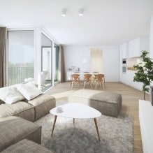 Кухня-гостиная в белом цвете: особенности, фото-1