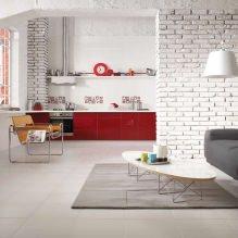Кухня-гостиная в белом цвете: особенности, фото-3