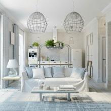Кухня-гостиная в белом цвете: особенности, фото-4