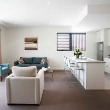 Кухня-гостиная в белом цвете: особенности, фото-6