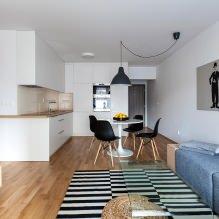 Кухня-гостиная в белом цвете: особенности, фото-5